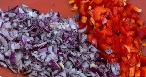 Овощи нарезаем