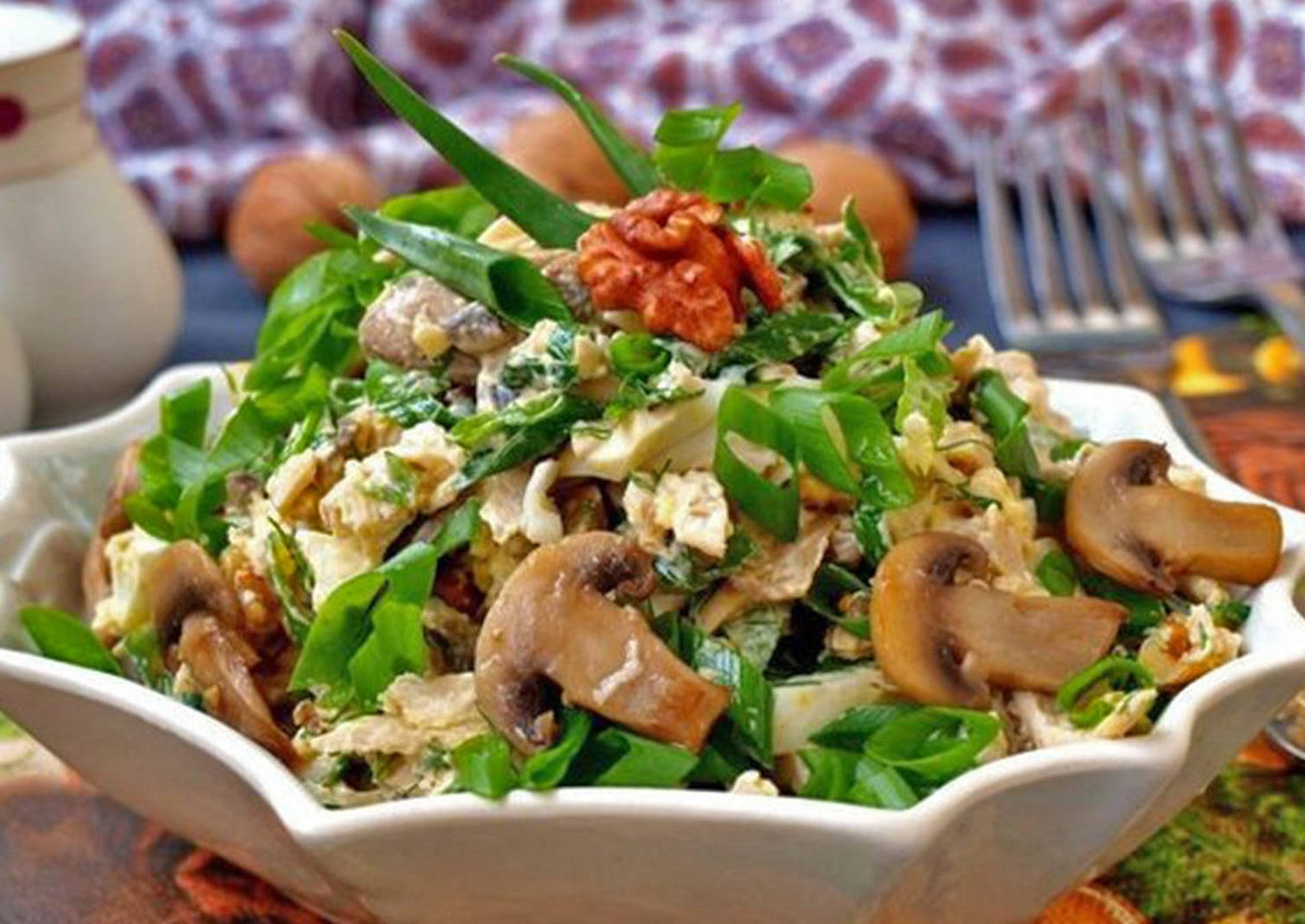Овощной салат без майонеза