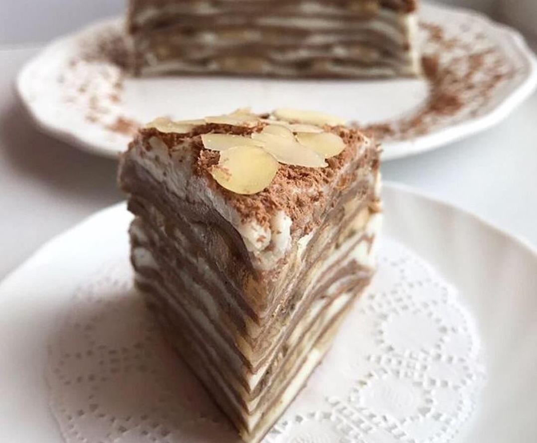 Блинный торт с бананом: рецепт и приготовление
