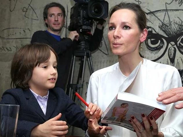 Дарья Златопольская с сыном