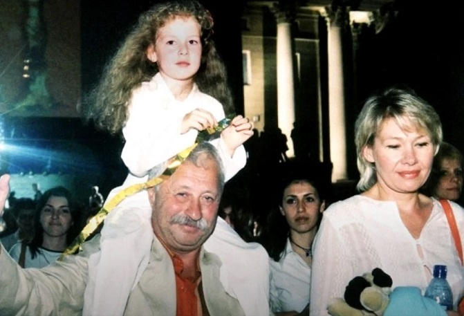 Леонид Якубович с дочерью