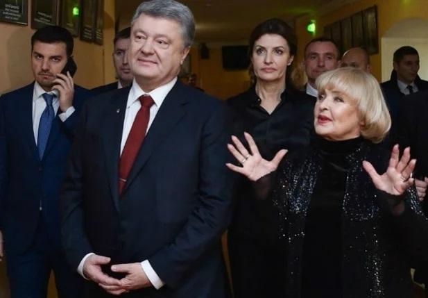 Ада Роговцева и Петр Порошенко