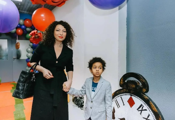 Наталья Ибадин с сыном